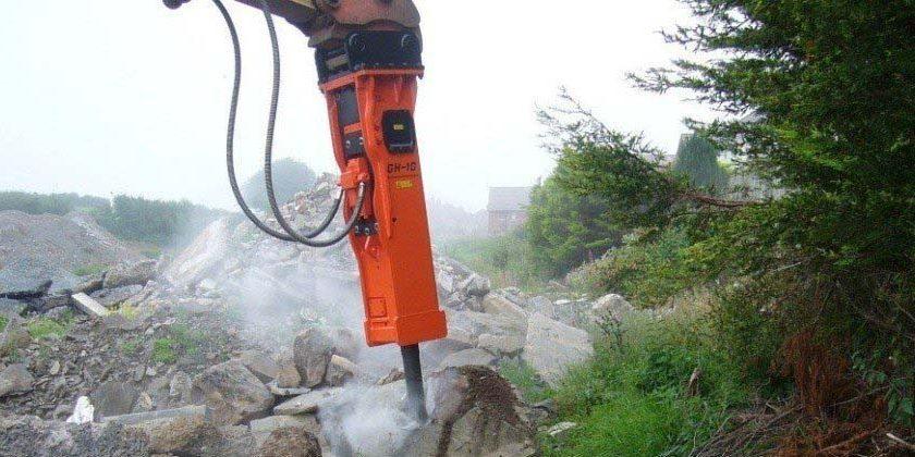 Hydraulic hammers in County Antrim